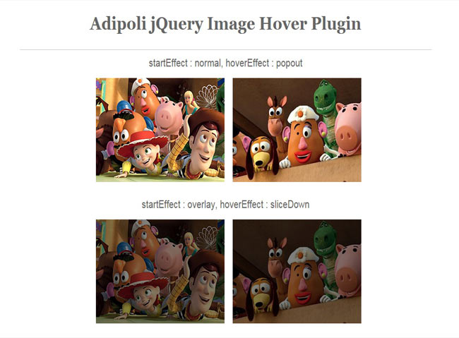 Adipoli - jQuery Image Hover Plugin with Multiple Effect