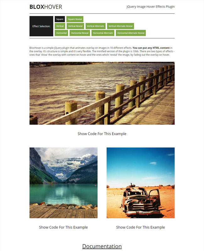 BloxHover - Simple jQuery Image Hover Effects