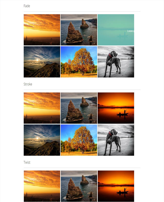Hover Pack - Animated hover effect on images
