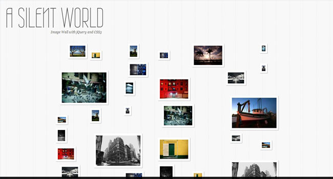 Image Wall - Creative image wall with jQuery
