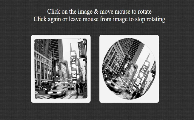 Rotating Image - Simple jQuery Image Hover