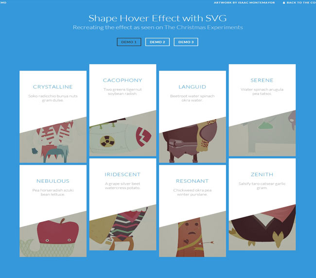 Shape Hover - jQuery img hover effect Effect with SVG