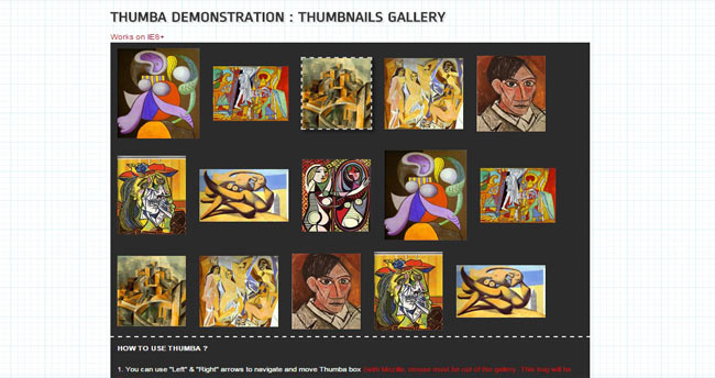 Thumba - Thumbnails Image hover jQuery Effect