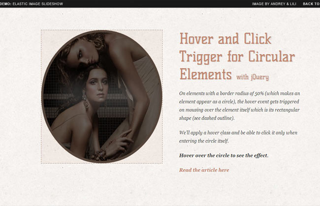 Trigger - Circular Image hover plugin with jQuery